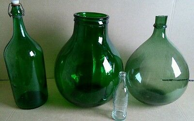 Set of 4 gantique carboys - Italian demijohn
