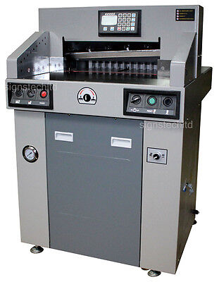"Hydraulic Paper Guillotine Cutter Cutting Machine,New 480mm 19"" Programmable"