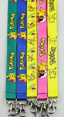 Lot Mixed Pokemon Pikachu Mobile Cell Phone Lanyard Neck Straps Party Gifts E22