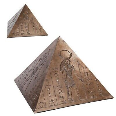 Ancient Egyptian Gods Pyramid Burial Cremation Urn Figurine Collection