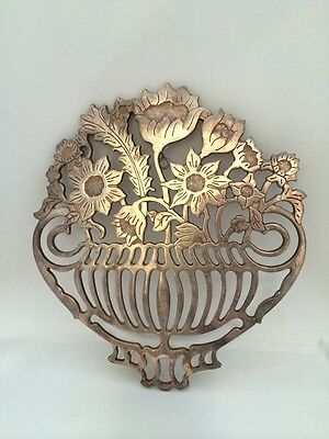 Vintage E.P. Zinc Italy Mod Dep Signed Silver Plated Pot Stand/Hanging Four Leg