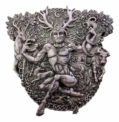 Celtic Horned God Lord of the Forest Cernunnos Wall Plaque Figurine Collection