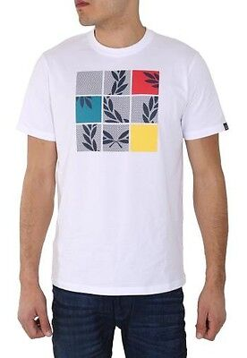 Fred Perry Shirt Men (M2212) Puzzle Print Special 100% Authentic Size XXL New