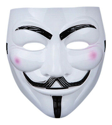 New 2 Guy Fawkes Anonymous Face Mask Hacker V For Vendetta Halloween Fancy Dress