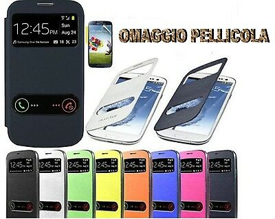 CUSTODIA COVER FLIP CASE SLIM VIEW PER SAMSUNG GALAXY CORE 2 G355 PIU PELL