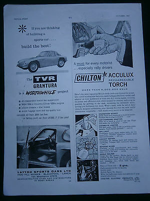 TVR GRANTURA from 1961 - 1/2 page B/W ADVERT