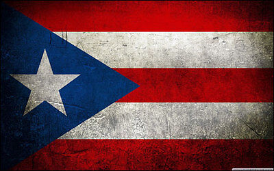3x5 inch VINTAGE LOOK Puerto Rico Flag Sticker -decal funny car distressed rican