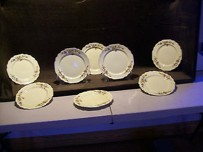 Canarytone Lido  Floral Pattern Vintage Salad Plates W.S. George