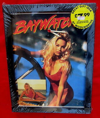 Baywatch 1995 wall clock made uk unopened mint condition Pamela Anderson Lee
