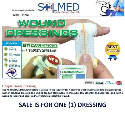 1 X First Aid Finger Woundcare Dressing Sterile Compressed Bandage