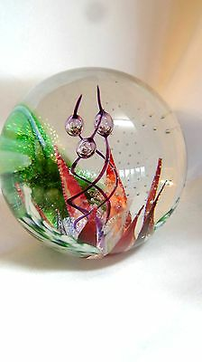 Glass Eye Studio Handcrafted Artist Series Copper Blossom Paperweight 595-1