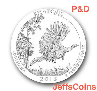 2015 P&D Kisatchie National Forest Park QUARTER Louisiana New US.Mint 2 Coins PD
