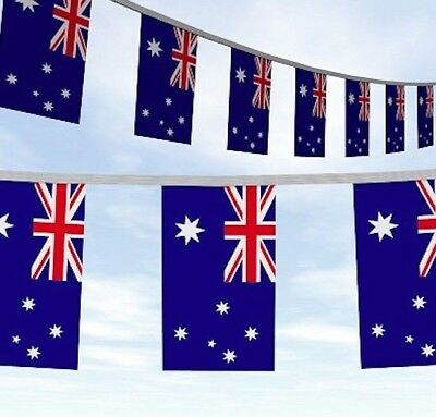 Huge 33Ft Oz Australia Day Flags Bunting Rugby