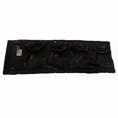 Hand Carved Wooden Plaque African Art Wall Decor Collectibles Sculpture #1