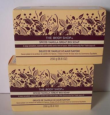 The Body Shop 8.8 oz Bar Great Big Soap Spiced Vanilla x2