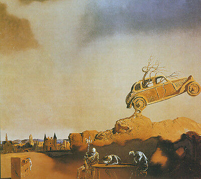 "Apparition of the Town of Delfi  by Dali   20"" Paper Print Repro"