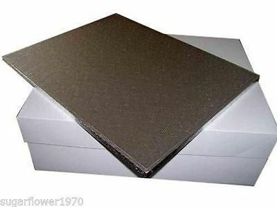 """18 x 14 """" inch large rectangle cake drum board and box FAST DESPATCH"""