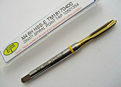 M4 x 0.7 SPIRAL POINT TiN COATED YELLOW RING TAP EUROPA TOOL TM18170400  #A15