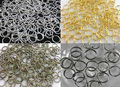 4mm,5mm,6mm,8mm,10mm,12mm,14mm Jump Rings Open Connectors Fit Jewelry Making