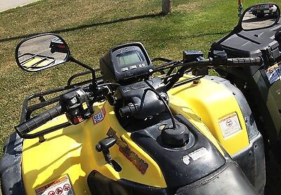 Universal Rear view mirror set for Polaris ATVs, Universal fit on handle bars