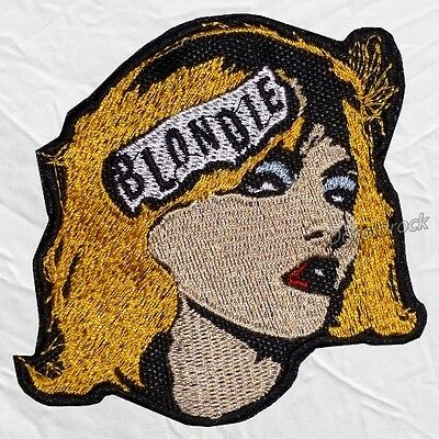 Blondie Logo Embroidered Patch Rock Band Debbie Harry Chris Stein Clem Burke