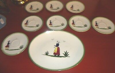 KNOWLES USA NORMANDY PATTERN DINNERWARE  - PLATTER & SMALL PLATES, SAUCERS