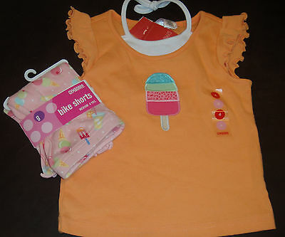 Gymboree Popsicle Party beaded top & popsicle ice cream shorts SET NWT 4 4T
