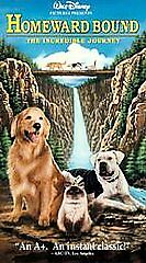 Homeward Bound (The Incredible Journey) [VHS] by