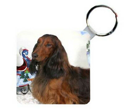 Dachshund  longhaired  Personalized   Breed  Key  Chain