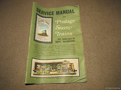 Service Manual for Postage Stamp Trains by Aurora Plastics Corporation 1967