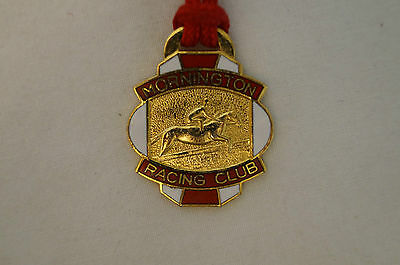Collectable - Vintage - Mornington Racing Club - 1987 - Members Badge.