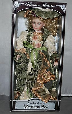 Petite Porcelain Doll by Barbara Lee Limited Edition Victorian Lady Green Dress