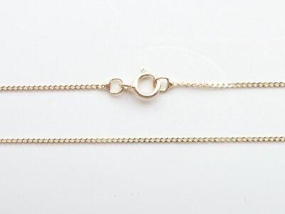"9ct Gold Fine Lightweight Diamand Cut Curb Chain Necklace 16"" 18"" 20"""