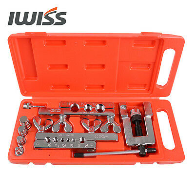 """Iwiss 1/8"""" to 3/4"""" O.D.Tubing Flaring & Swaging Tool Kit for Soft Copper Pipe"""