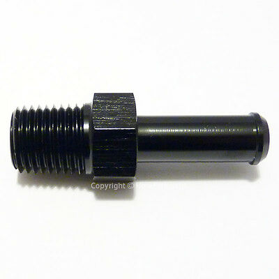 3/8 NPT to 7mm 8mm (5/16) BLACK PUSH ON BARB TAIL Hose Pipe Fitting Adapter