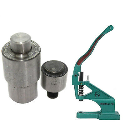 Eyelet Setting Tool Dies Set for Eyelets Grommets Green Hand Press Machine Craft