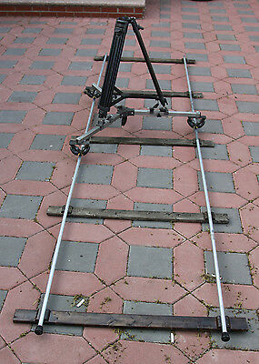 Complete heavy duty dolly system with tracks and dolly 12 FEET w.case