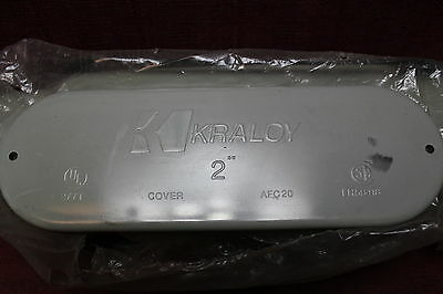 """Kraloy 078133 2"""" PVC C conduit Body, Cover and Gasket New"""