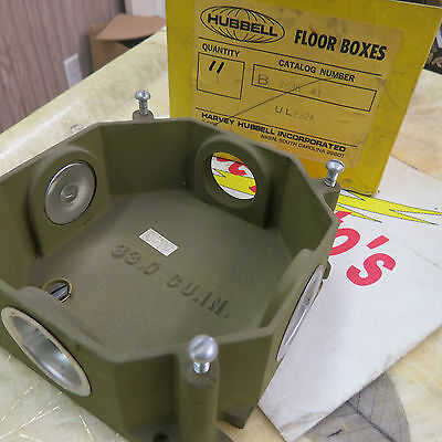 hubbell b253641 floor box floor outlet box box only new