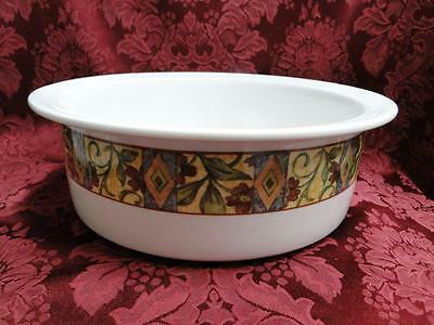 Royal Doulton Cinnabar, Mosaic Design, Red Floral: Round Salad Serving Bowl, 10""