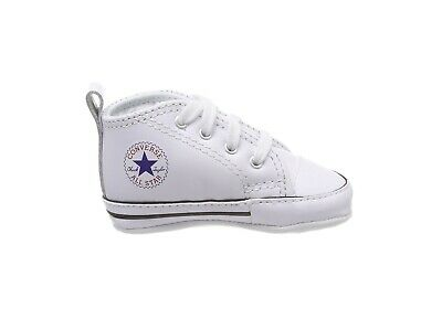 b52232458508 Converse New Born Crib Booties Boys White Leather First All Star Baby Shoes  3
