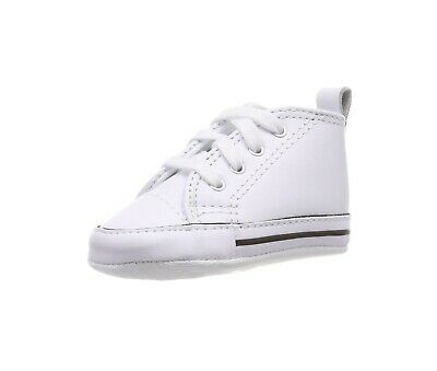 5b909c48f708 Converse New Born Crib Booties Girls White Leather First All Star Baby Shoes  3