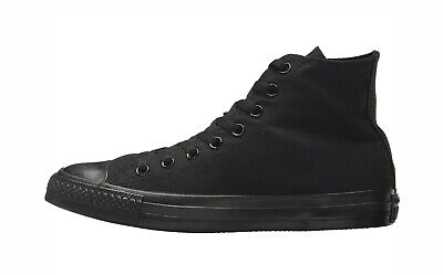 Converse Chuck Taylor All Star High Top Black Monochrome Canvas Shoes - M3310