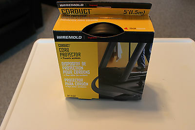 Cord Protector Wiremold Corduck 5 ft Black Legrand New and Factory Sealed