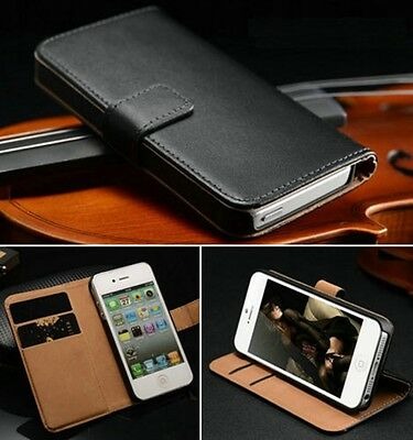 Luxury PU Leather Flip Wallet Case Cover For Apple iPhone 4 5 5S 5C 6 / Touch 5