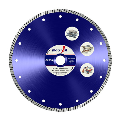 Marcrist CK850 Turbo Extreme Speed Tile Blade (ALL SIZES) Wet or Dry