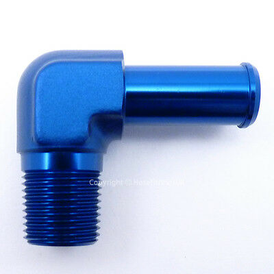 1/8 NPT to 7mm 8mm (5/16) 90 DEGREE ELBOW PUSH ON BARB TAIL Hose Fitting Adapter