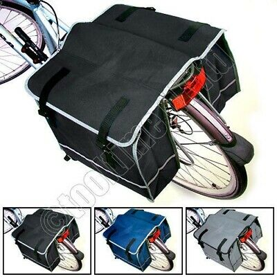 Large Double Rear Pannier Bike Bag Water Resistant Cycle Rack Carrier -3 Colours