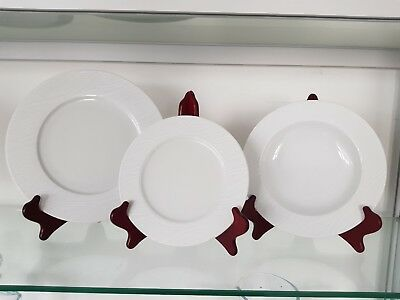 service de table 18 pieces plate 6 creuse 6dessert 6 assiette porcelaine cristal