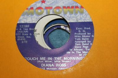 """DIANA ROSS Touch Me In the Morning / I Won't Last A Day Without You 7"""" 45 MOTOWN"""